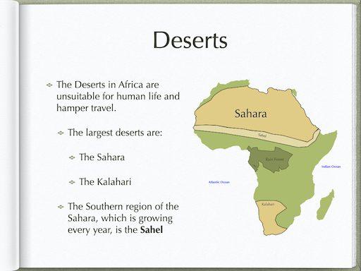 Deserts In Africa