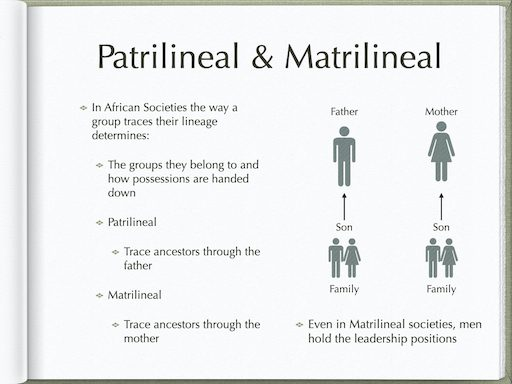 Patrilineal and Matrilineal